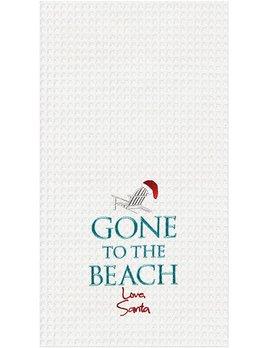 Kitchen Towel Gone To The Beach Santa