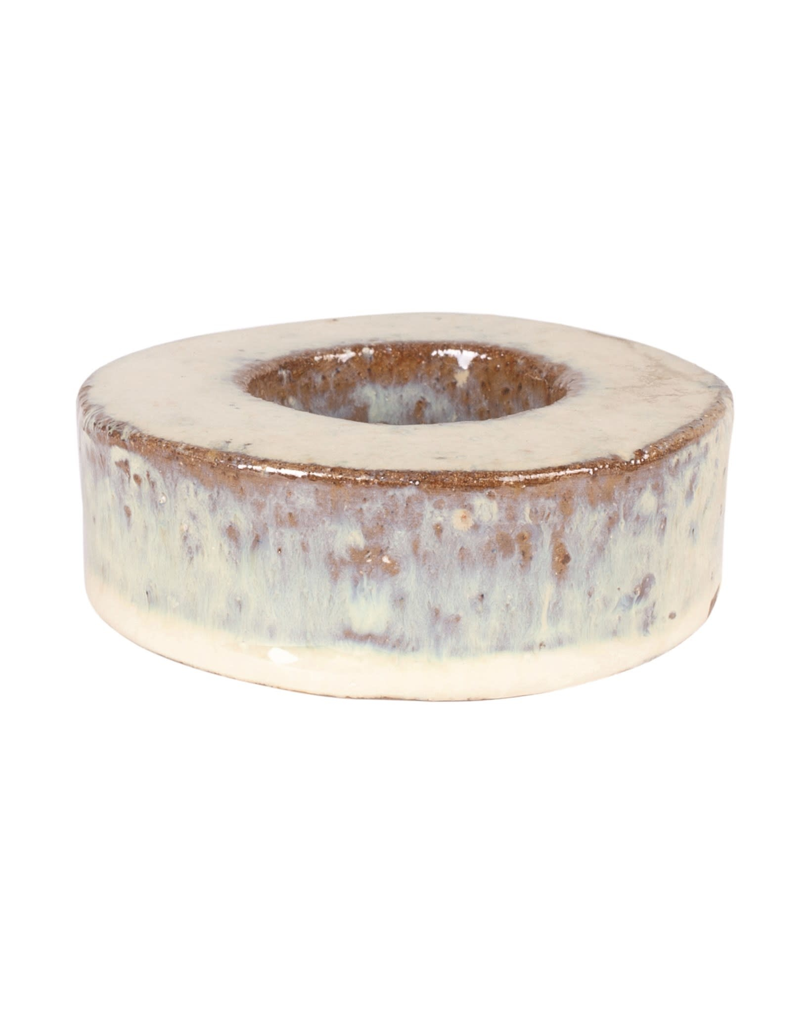 Ash Stoneware Votive Cream
