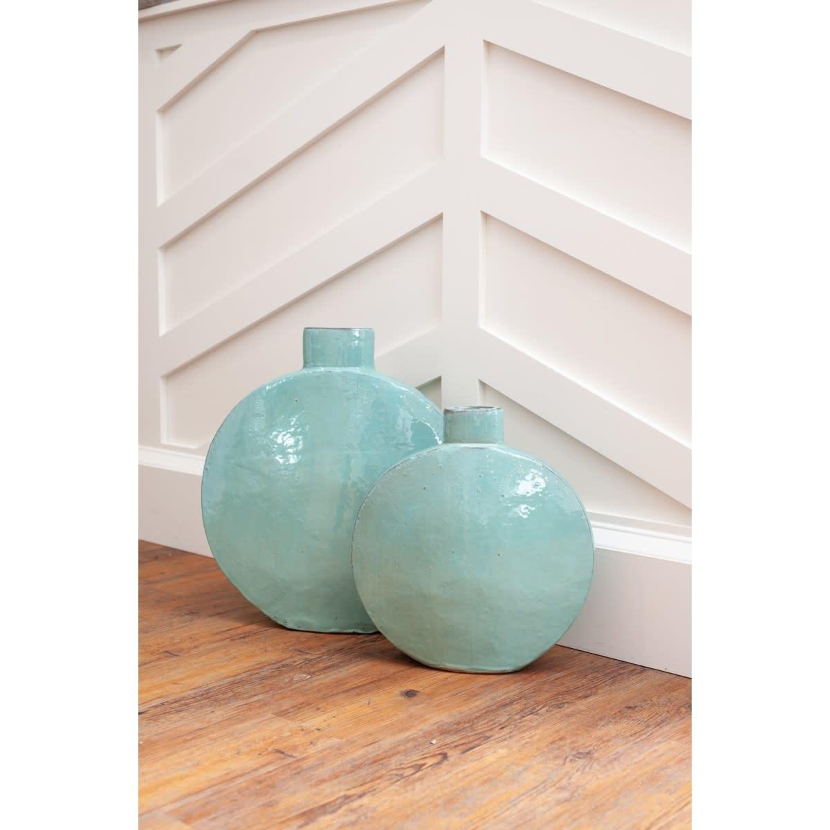 June Stoneware Vase Blue Small