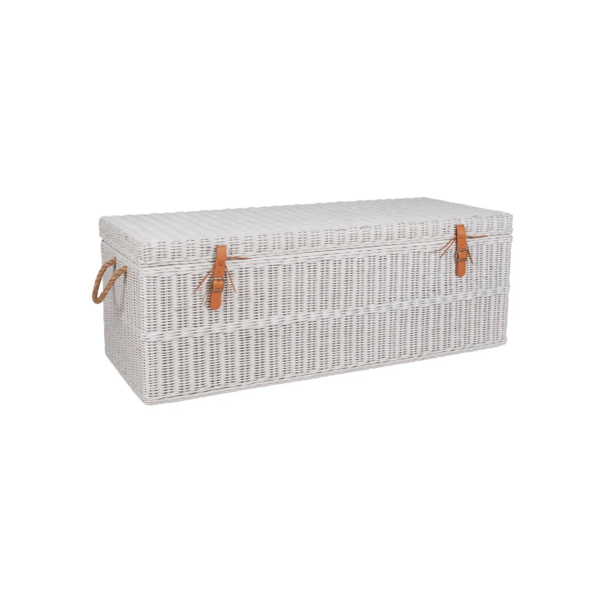 Boca Storage Bench White