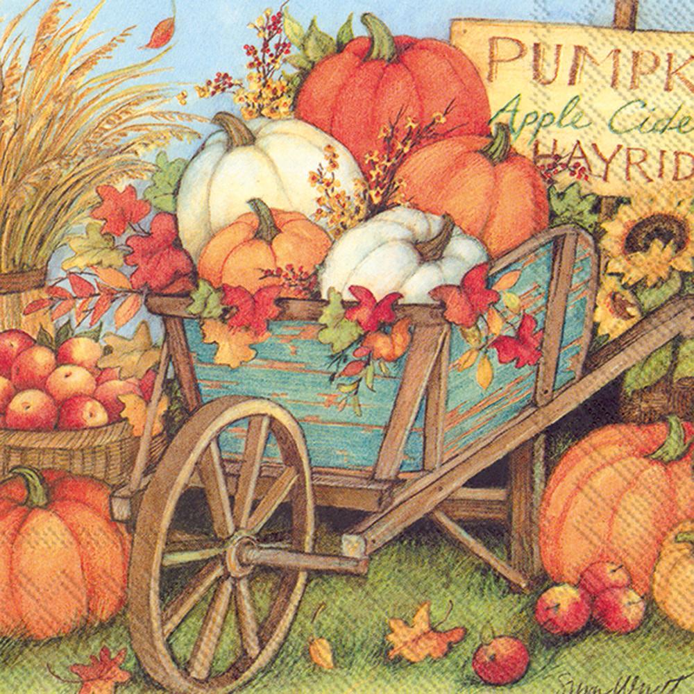 Pumpkin Crop Lunch Napkin
