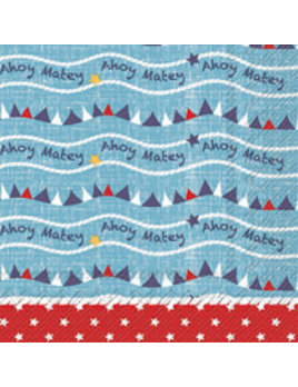 Boston International Ahoy Matey Lunch Napkins