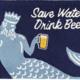 Save Water Drink Beer 24x36 Rug