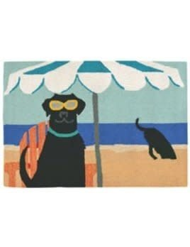 """Front Porch Rug Dig in the Beach Ocean 24""""x36"""""""