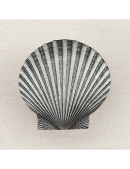 Pewter Knob  Large Scallop