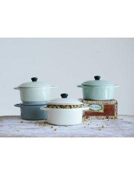 Stoneware Mini Baker w/ Lid, 4 Colors