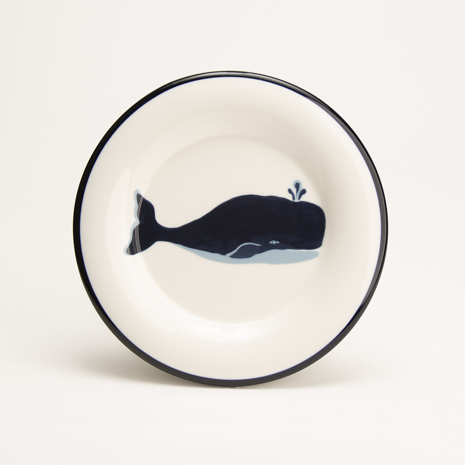 """7.5"""" Round Plate - Blue Whale"""