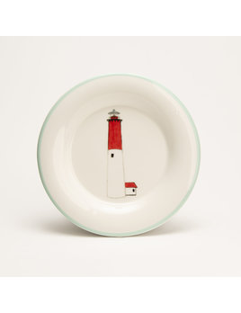 "7.5"" Round Plate - Lighthouse Barnegat"