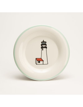 "7.5"" Round Plate - Lighthouse Cape Cod"