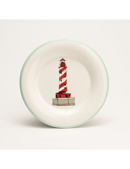 "7.5"" Round Plate - Lighthouse Michigan"