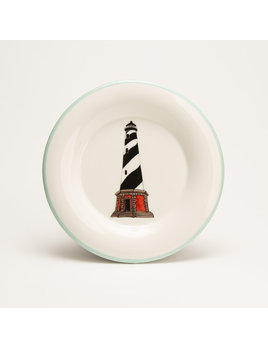 "7.5"" Round Plate - Lighthouse Outer Banks"
