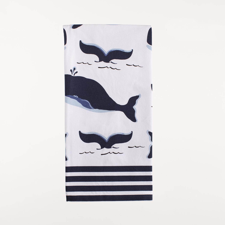 """28"""" x 20"""" Kitchen Towel - Blue Whale"""