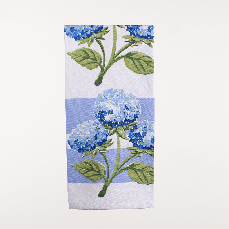 """28"""" x 20"""" Kitchen Towel - Hydrangea"""