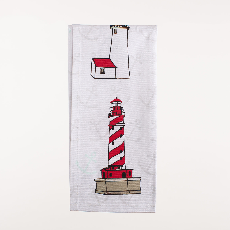 "28"" x 20"" Kitchen Towel - Lighthouses"