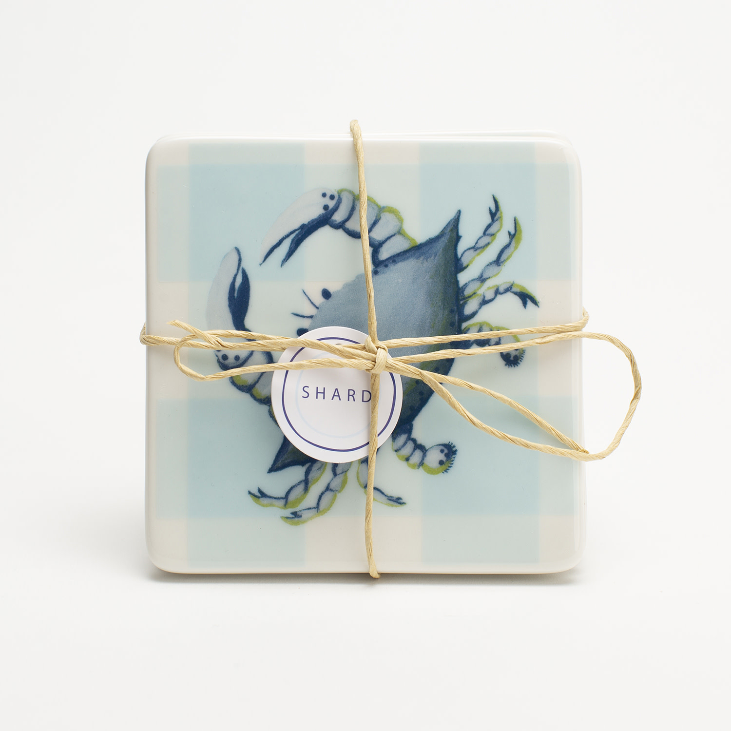 4 Piece Coaster Set - Blue Crab
