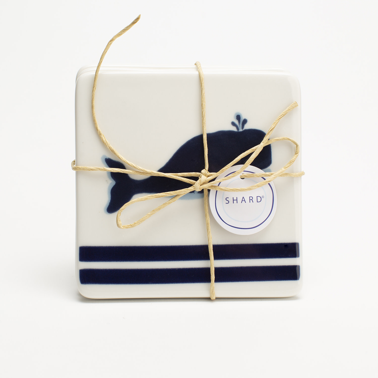 4 Piece Coaster Set - Blue Whale