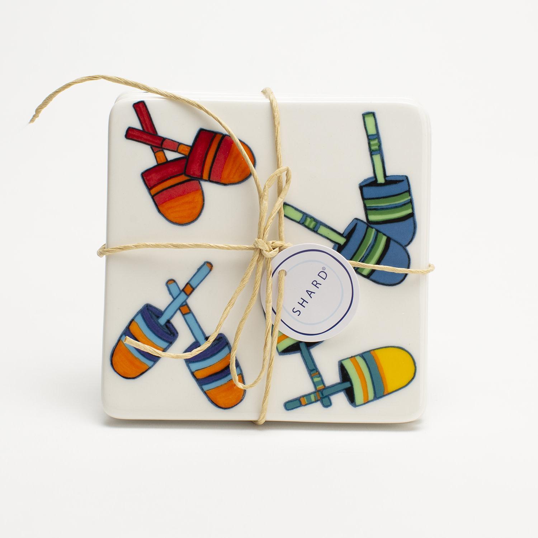 4 Piece Coaster Set - Buoys