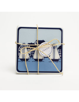 4 Piece Coaster Set - Coastal Village