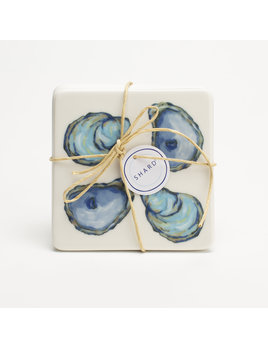 4 Piece Coaster Set - Oyster