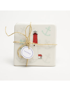 4 Piece Coaster Set - Lighthouse Barnegat