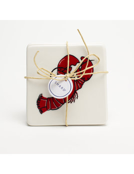 4 Piece Coaster Set - Lobster