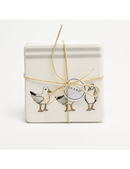 4 Piece Coaster Set - Seagulls