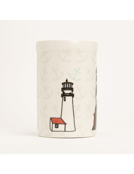 "8"" Crock - Lighthouses"