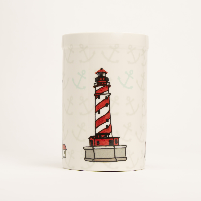 "8"" Crock - Lighthouses"