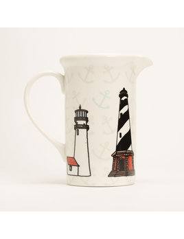 "8"" Pitcher - Lighthouses"