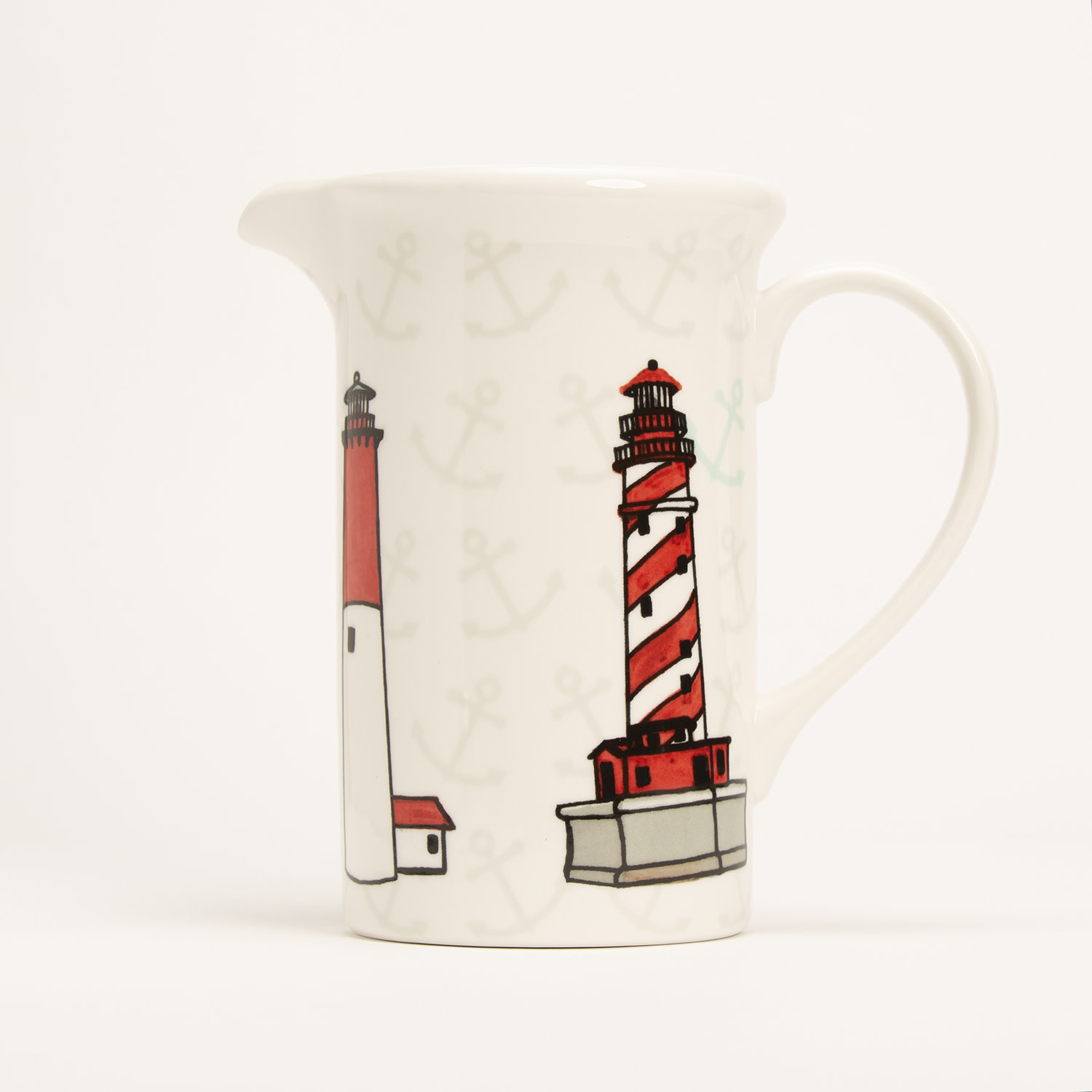 """8"""" Pitcher - Lighthouses"""