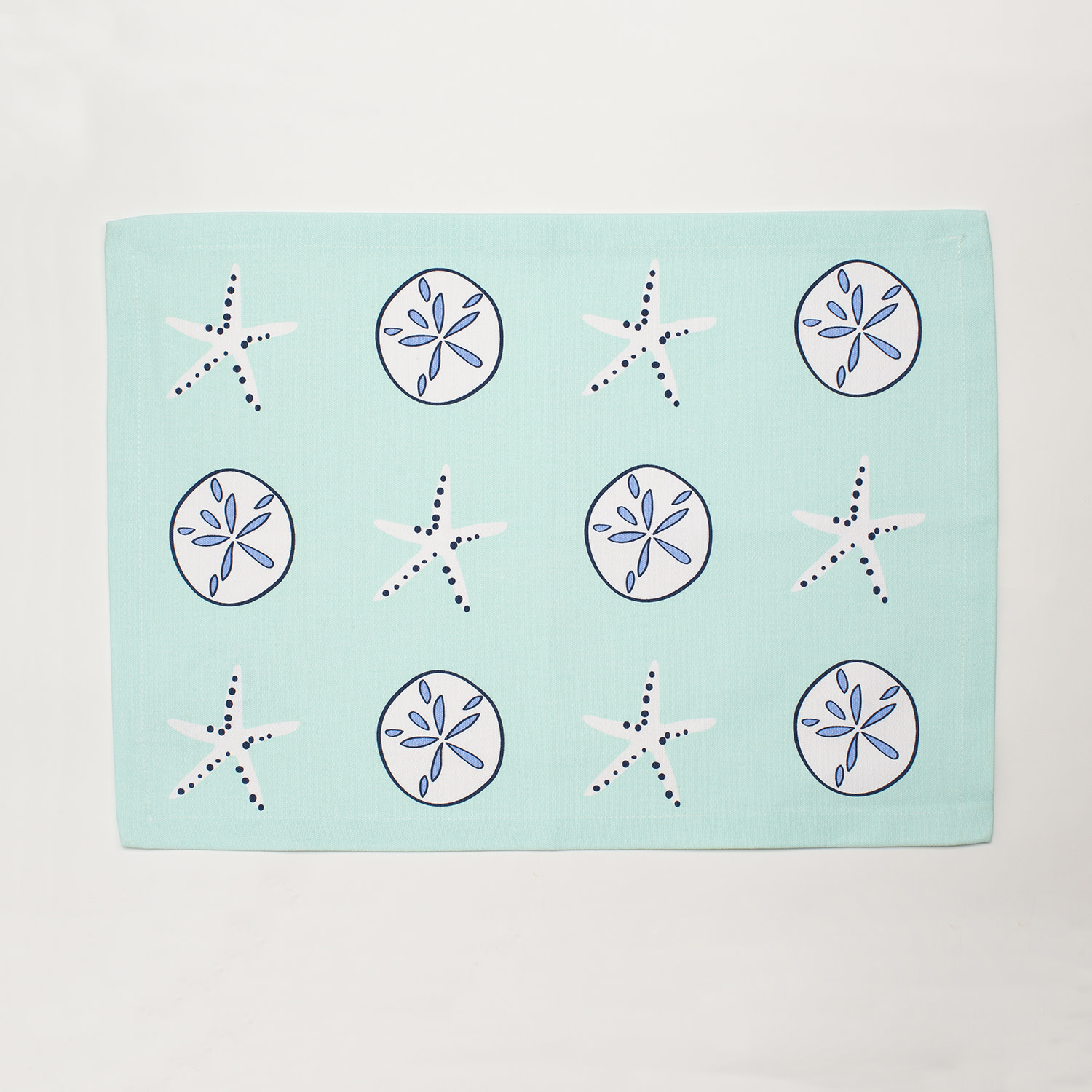 4 Piece Placemat Set - Aqua Shells