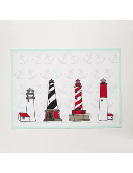4 Piece Placemat Set - Lighthouses