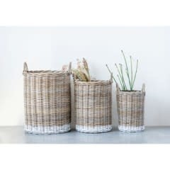 Rattan Baskets with Handles Small