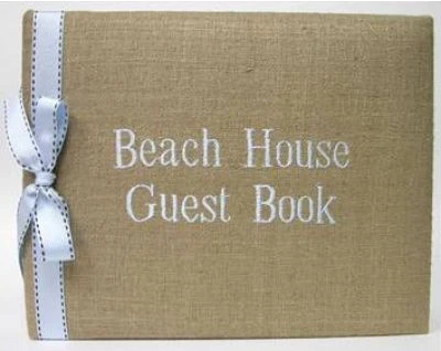 Guest Book Beach House Sand Ivory