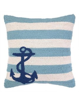Pillow  Anchors on Blue Stripes