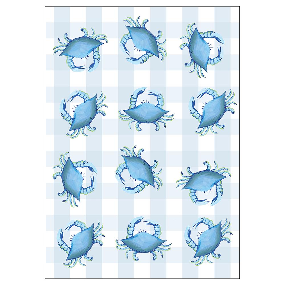 "28"" x 20"" Kitchen Towel - Blue Crab"