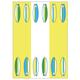 "28"" x 20"" Kitchen Towel - Surfboard"