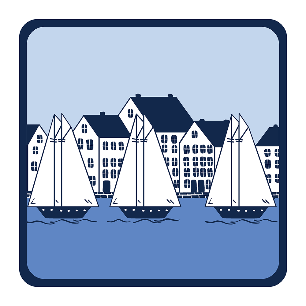 4 Piece Coaster Set - Coastal Village