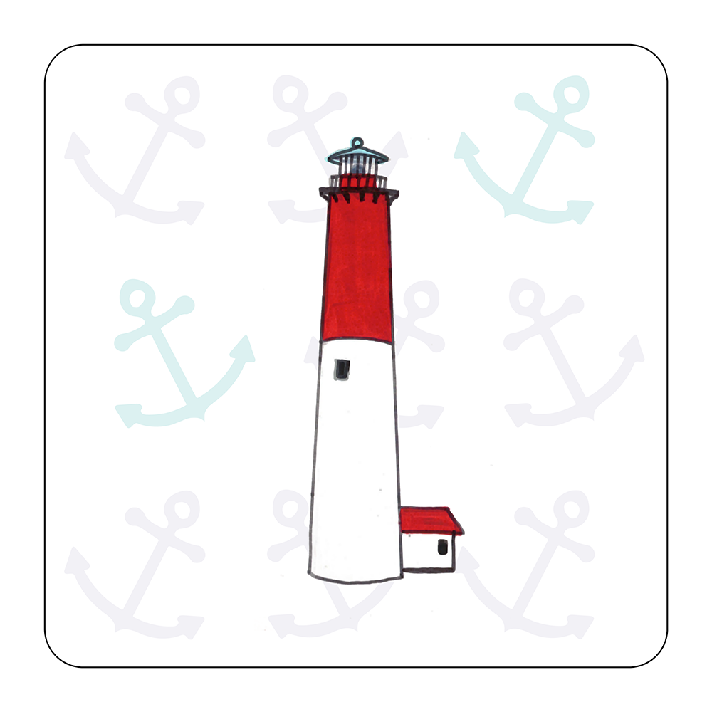 4 Piece Coaster Set - Lighthouse Barnegat
