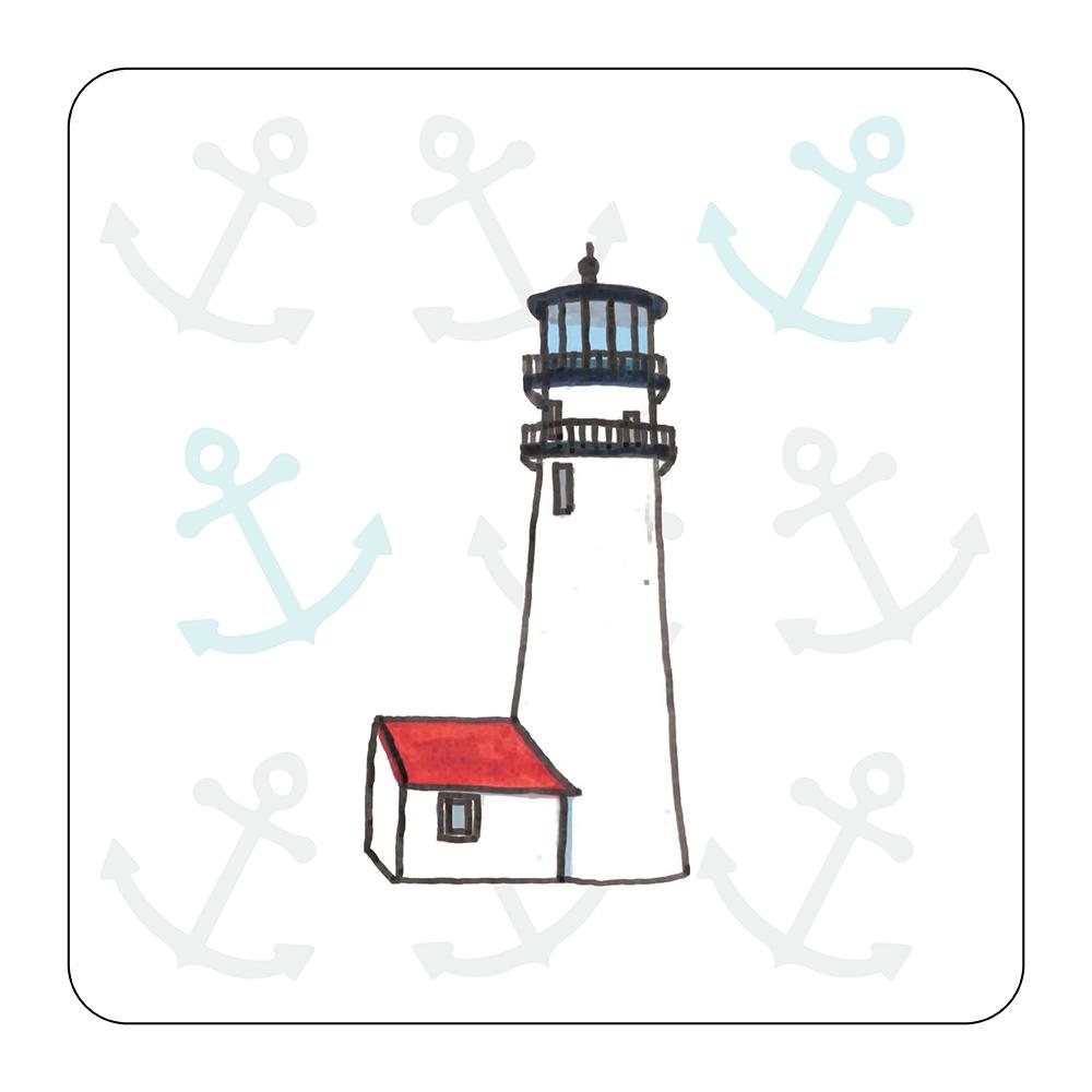 4 Piece Coaster Set - Lighthouse Cape Cod