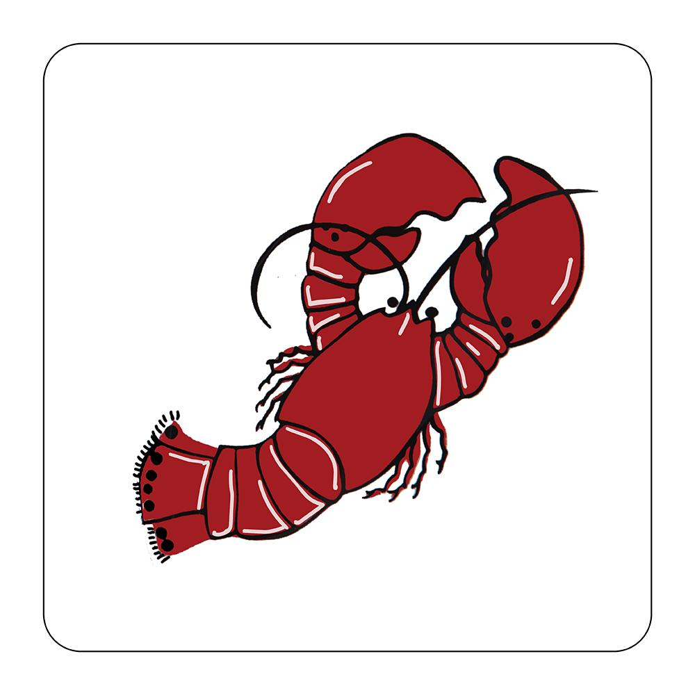 4 Piece Coaster Set - Lobster