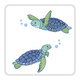 4 Piece Coaster Set - Turtles