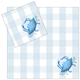 4 Piece Napkin Set - Blue Crab