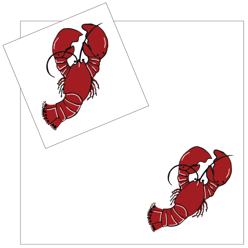 4 Piece Napkin Set - Lobster