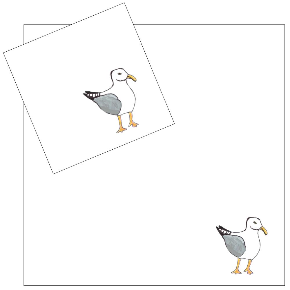 4 Piece Napkin Set - Seagulls