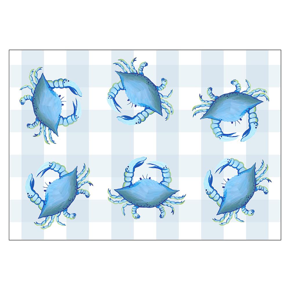 4 Piece Placemat Set - Blue Crab
