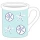 "4.25"" Mug - Aqua Shells"