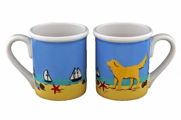 "4.25"" Mug - Beach Dog Yellow"