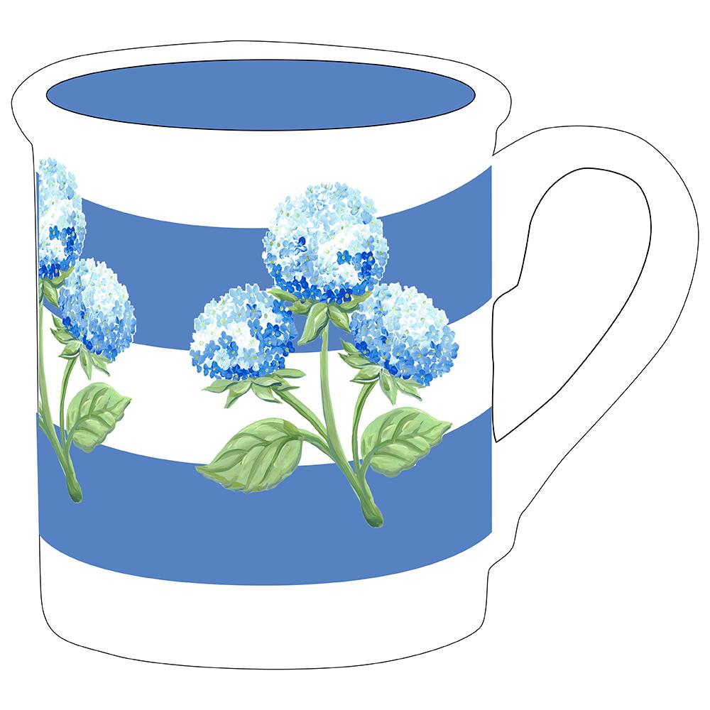 "4.25"" Mug - Hydrangea"