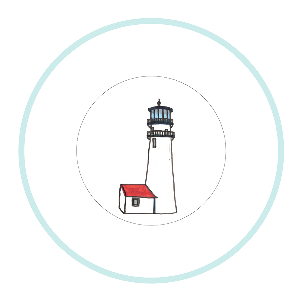 """7.5"""" Round Plate - Lighthouse Cape Cod"""